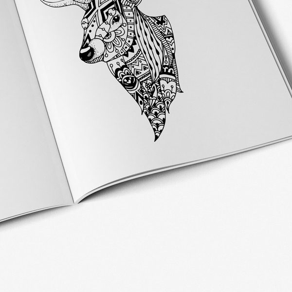 Animal coloring book adults vol 5 42