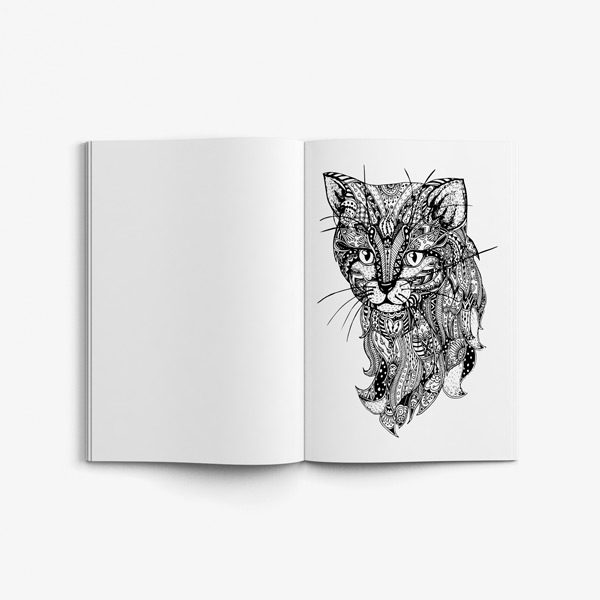 Animal coloring book adults vol 5 45