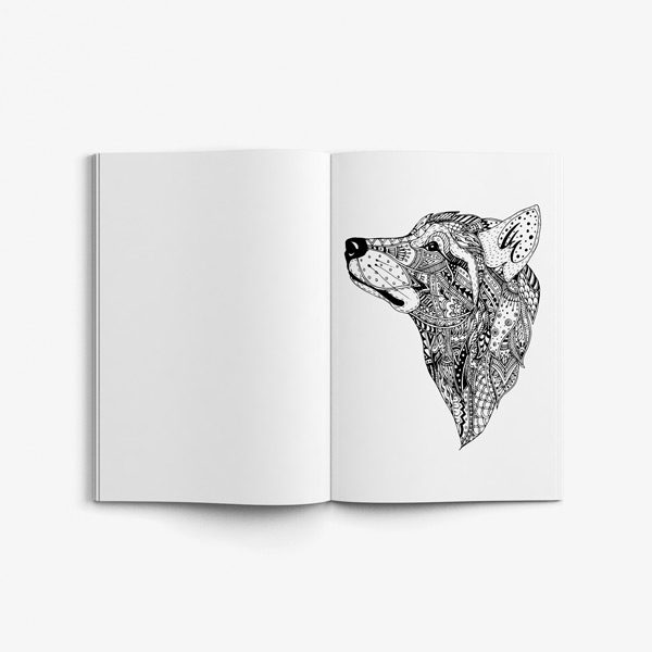 Animal coloring book adults vol 5 49