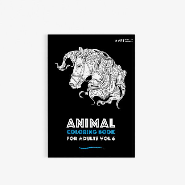 Animal coloring book adults vol 6 30