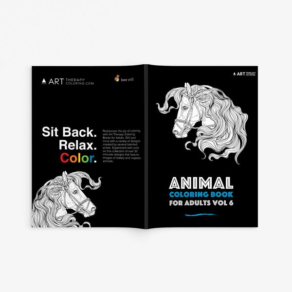 Animal coloring book adults vol 6 33