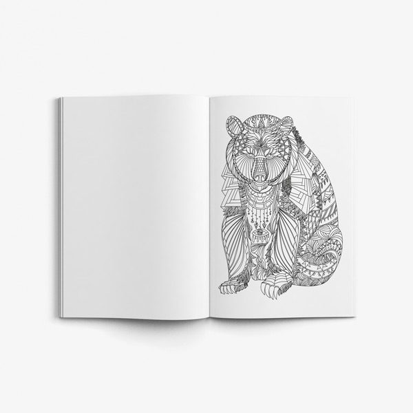 Animal coloring book adults vol 6 41