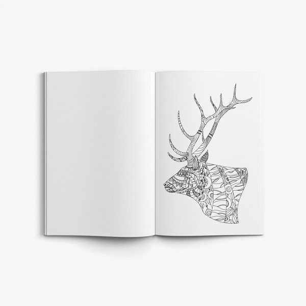 Animal coloring book adults vol 6 45