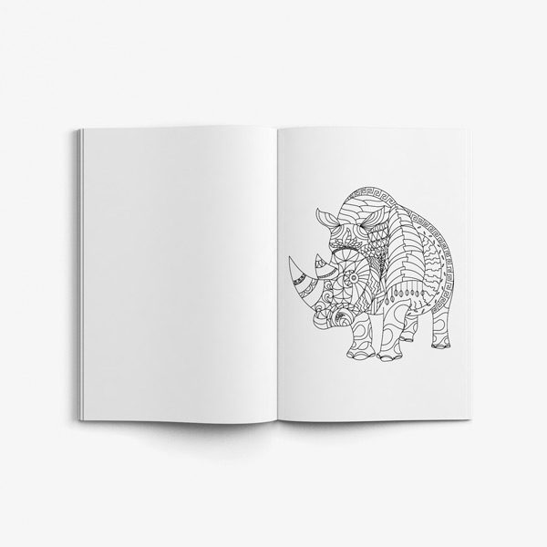 Animal coloring book adults vol 6 50