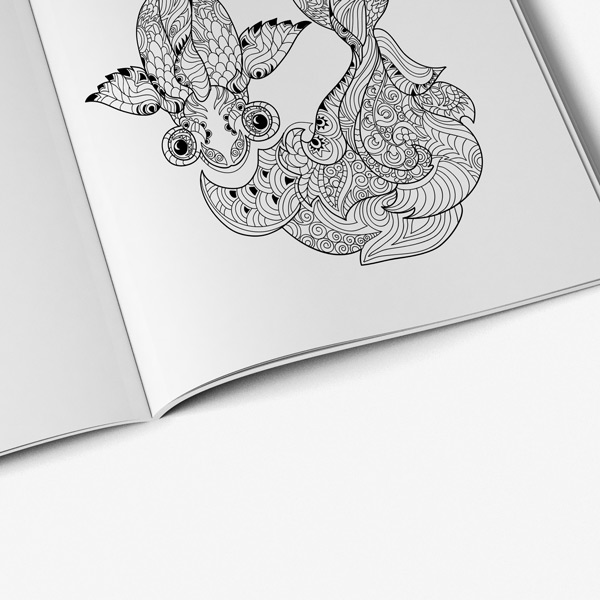 Animal coloring book for adults vol 6 - Art Therapy Coloring