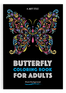 Butterfly coloring book for adults03