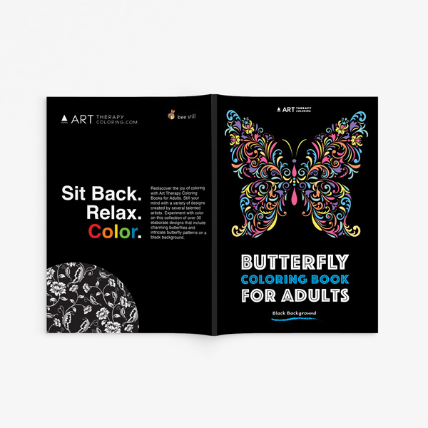 Butterfly coloring book for adults33