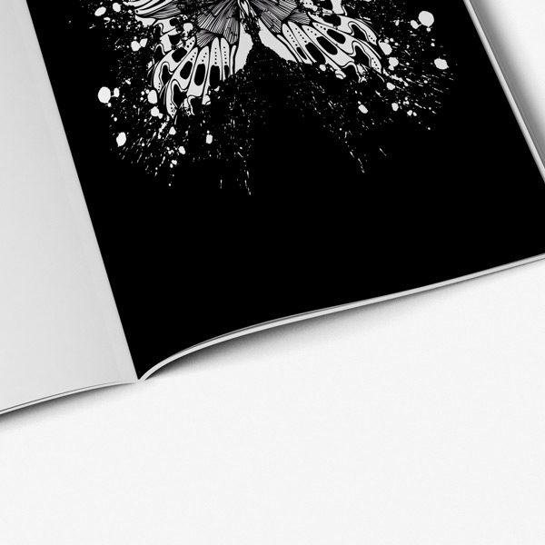 Butterfly coloring book for adults42