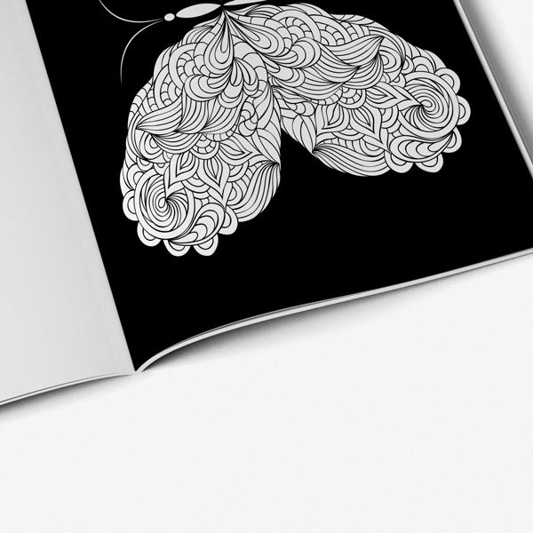 Butterfly coloring book for adults46