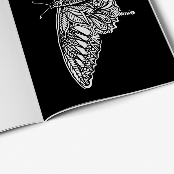 Butterfly coloring book for adults54