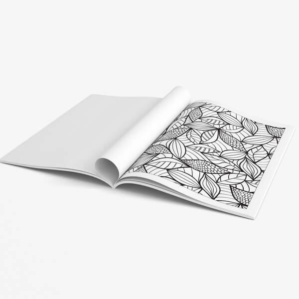 Coloring book for seniors vol 2 page leaves
