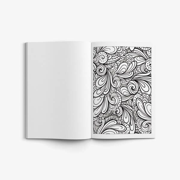 Coloring book for seniors vol 2 swirl flower page