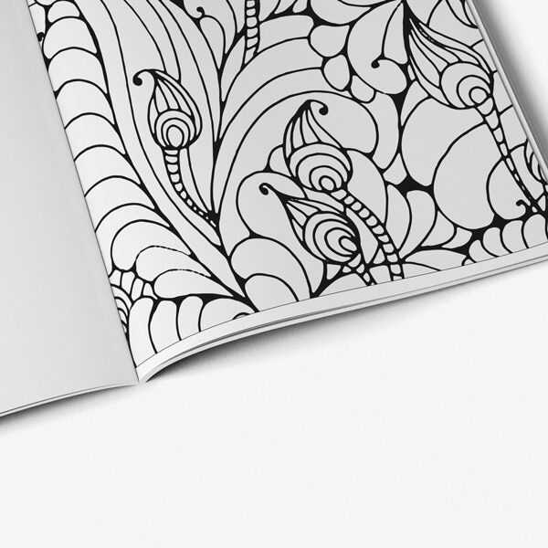 Coloring book for seniors floral vol 1 page 08