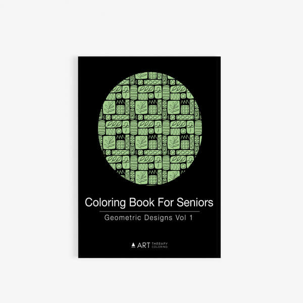 Coloring Book For Seniors Geometric Designs Vol 1