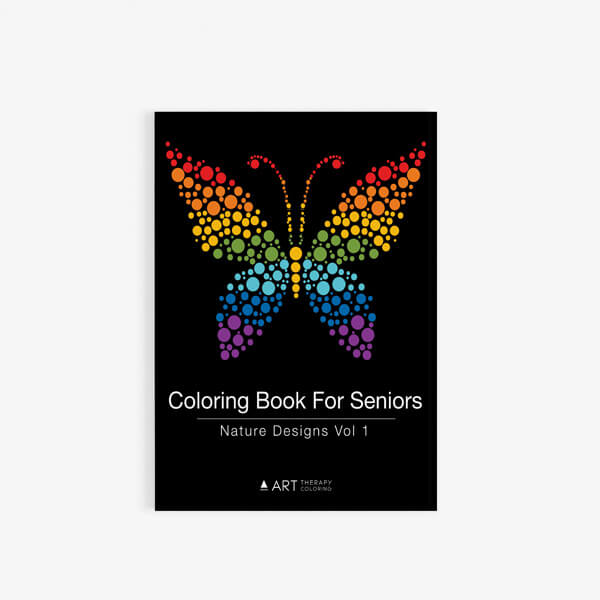 Coloring Book For Seniors Nature Designs Vol 1