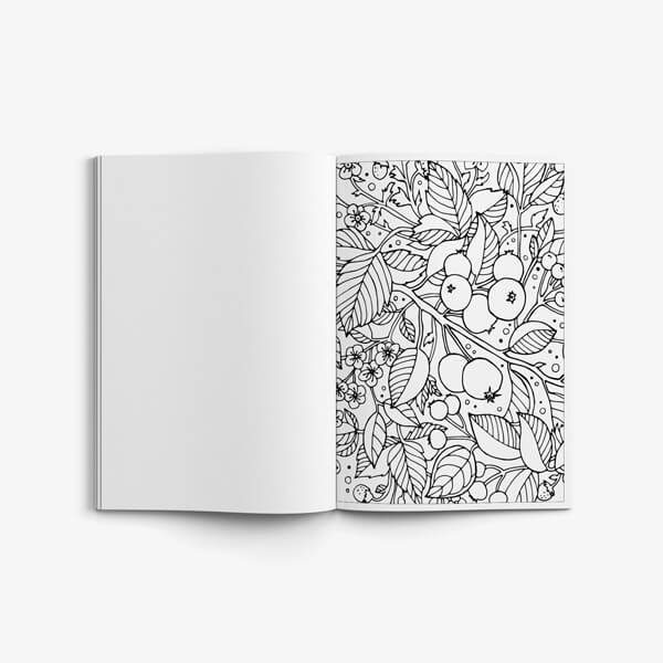 Coloring book for seniors nature vol 2 page 07