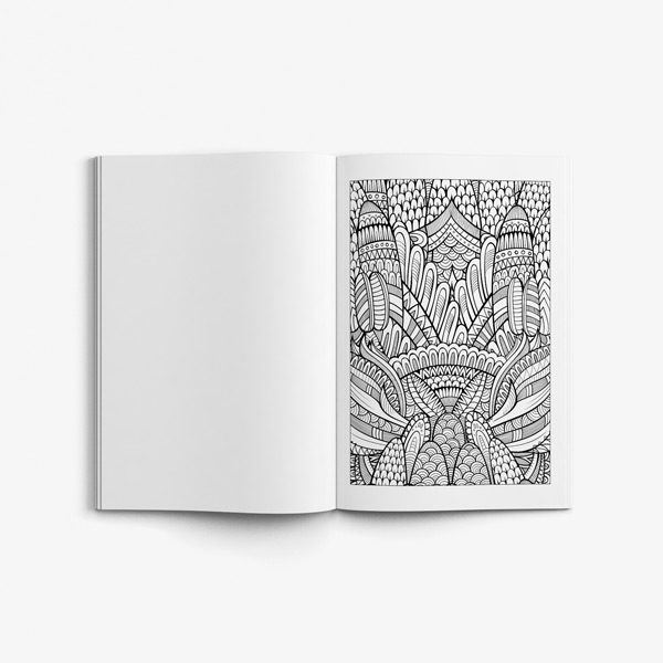 Coloring book seniors men nature58