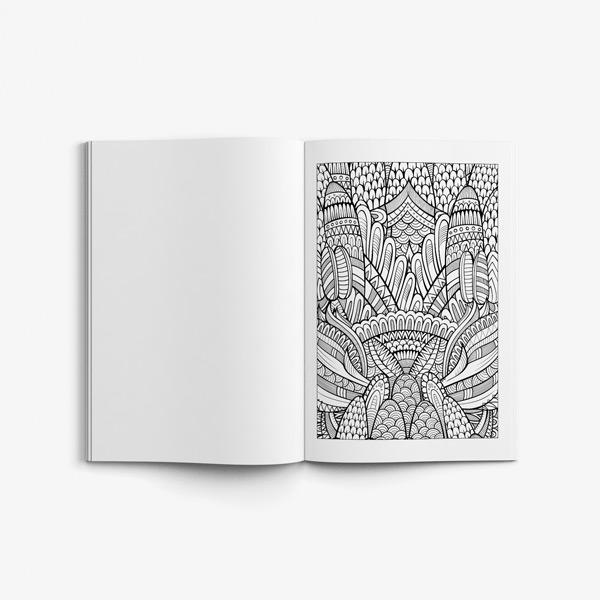 - Nature Coloring Book For Seniors Men - Art Therapy Coloring