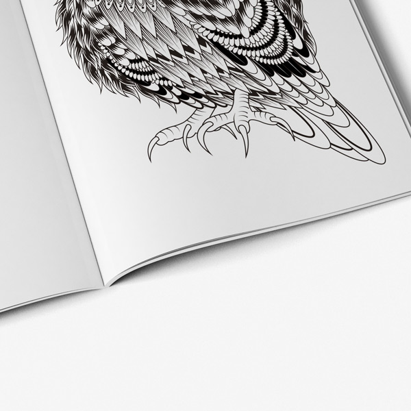 Bird Coloring Book For Adults Vol 1 - Art Therapy Coloring