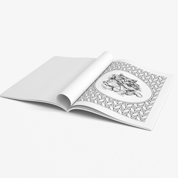 Cat coffee coloring book39