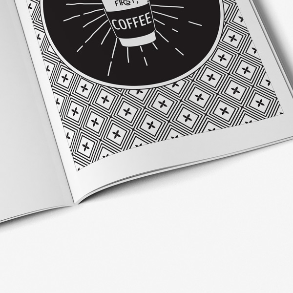 Cat coffee coloring book50