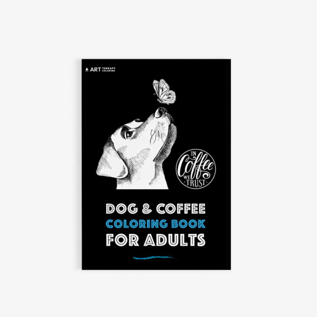 Dog coffee coloring book30