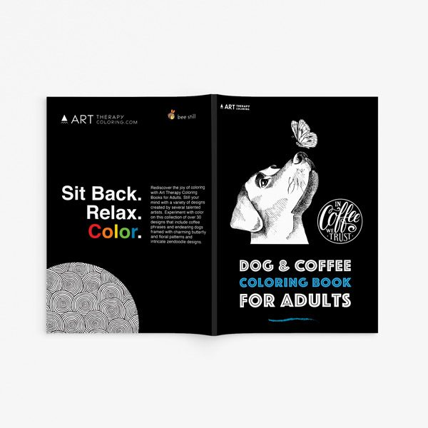 Dog coffee coloring book33