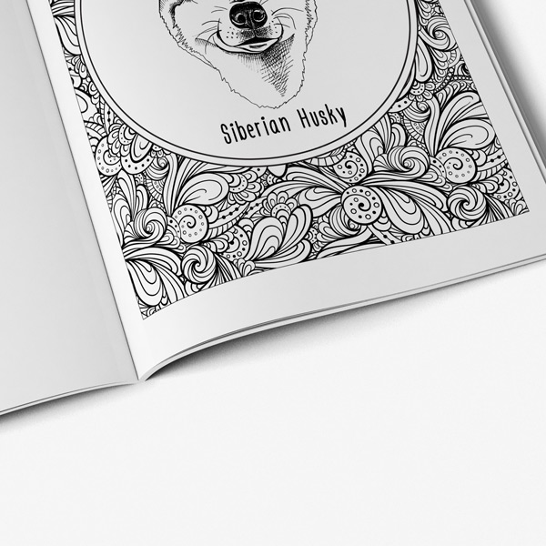 Dog coffee coloring book46