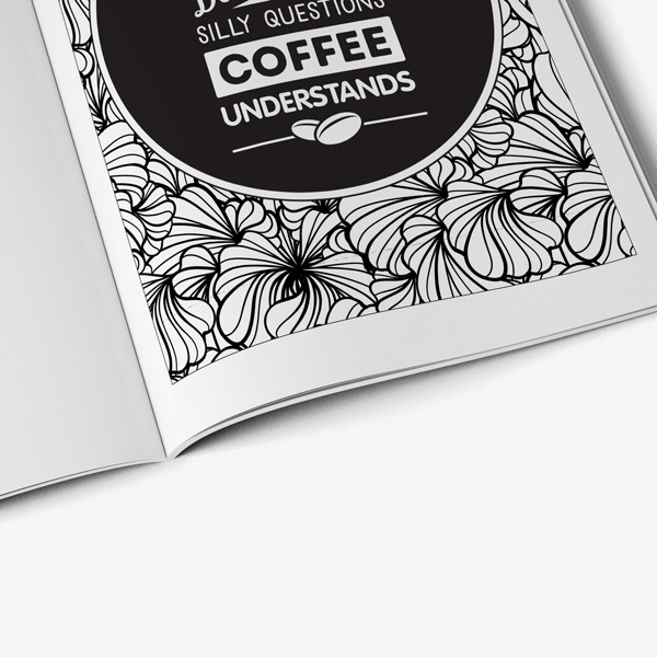 Dog coffee coloring book58