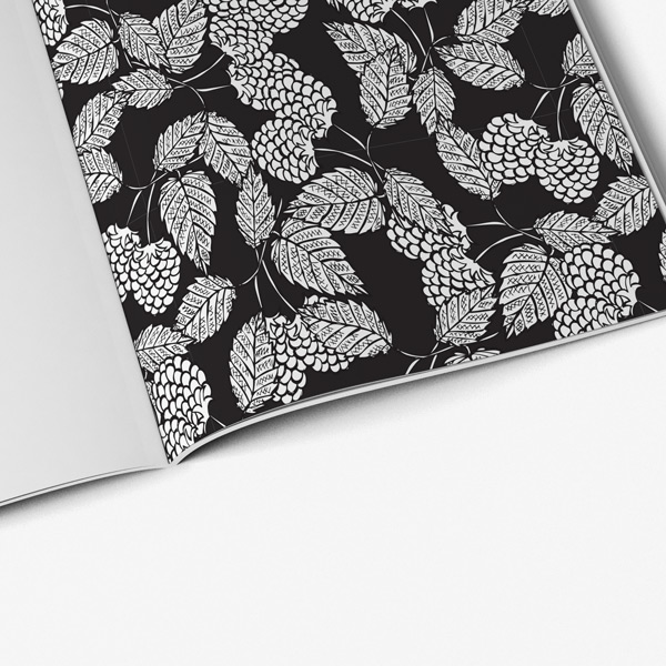 Flower coloring book adults black background53