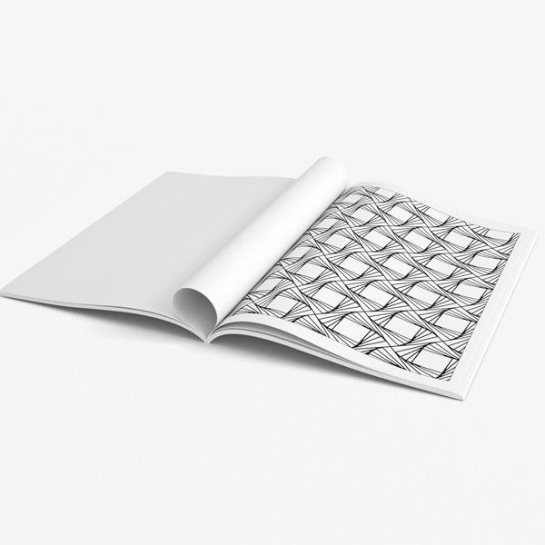 Senior coloring book page geometric design