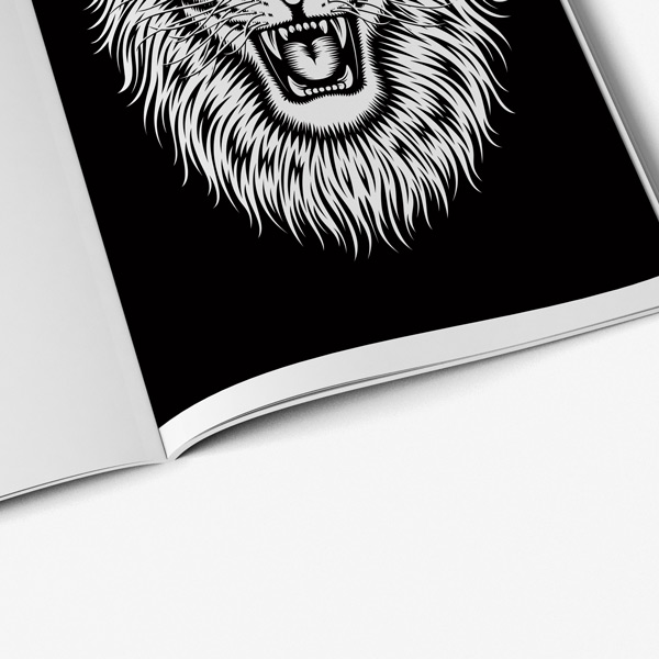 Animal coloring book adults black background 57