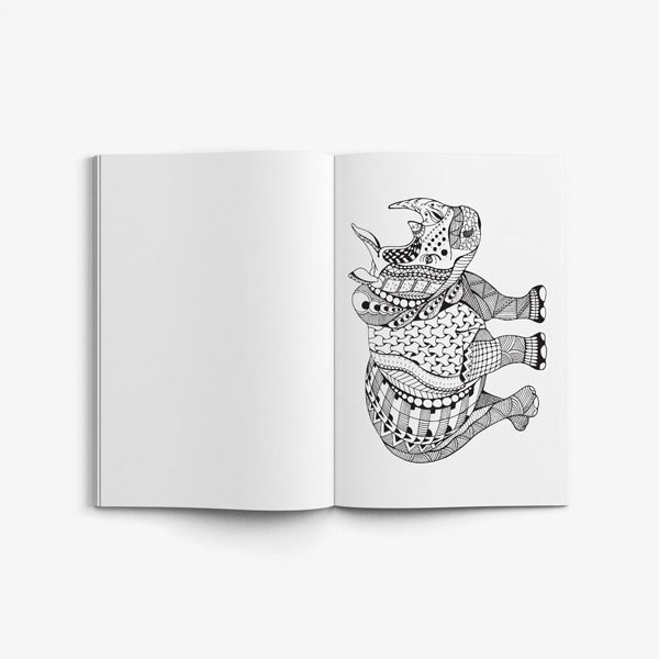 Animal coloring book for teens vol 1 54