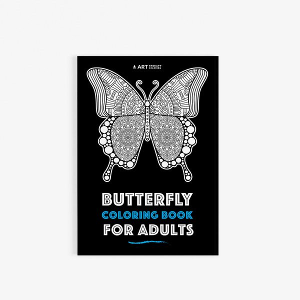 Butterfly coloring book adults 30
