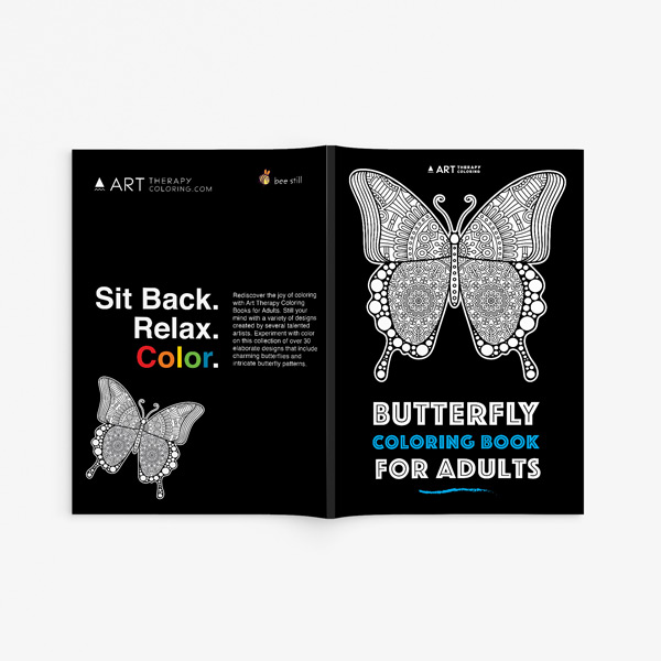 Butterfly coloring book adults 33