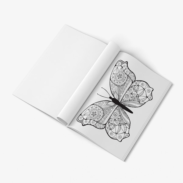 Butterfly coloring book adults 56