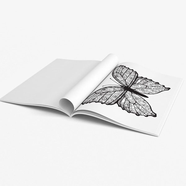 Butterfly coloring book teens 43