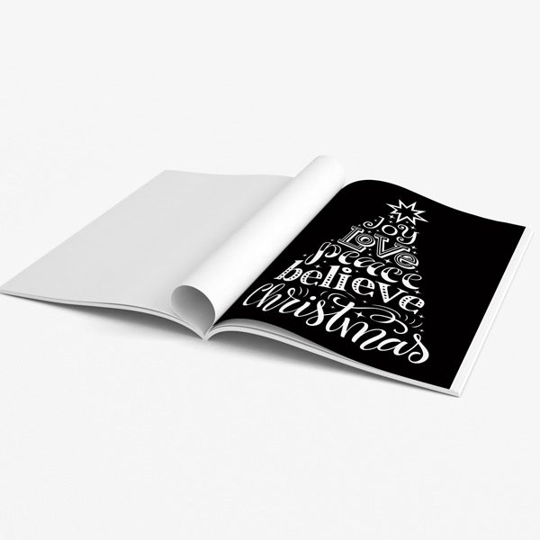 Christmas coloring book adults black background 47