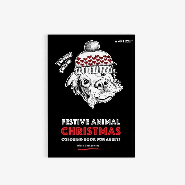 Christmas coloring book adults festival animals30