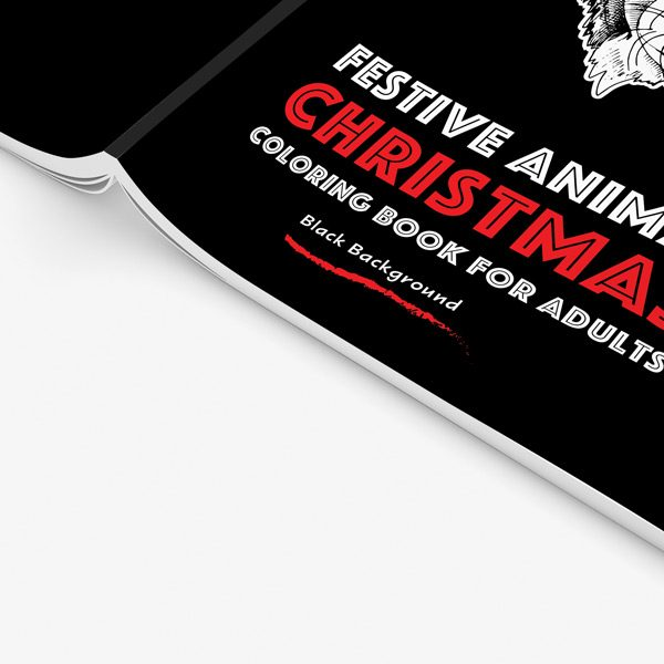 Christmas coloring book adults festival animals34