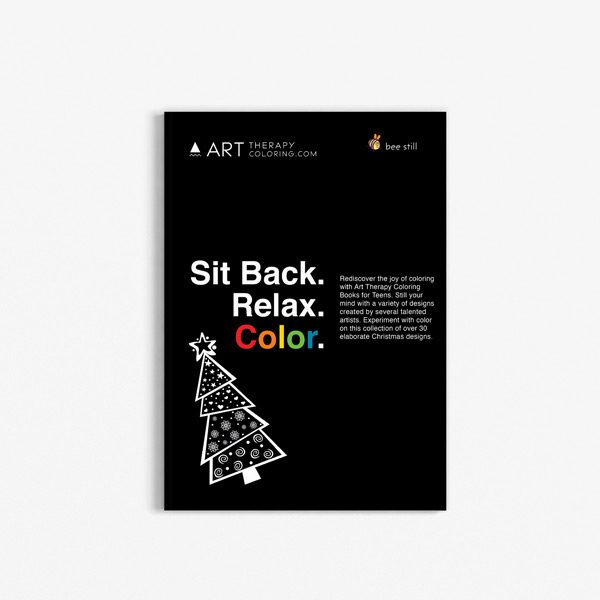 Christmas coloring book teens black background 31