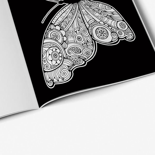 Butterfly coloring book for adults black background Vol 2 - Art ...