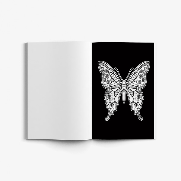 Coloring book adults butterflies vol 2 57