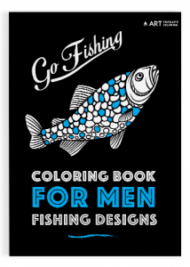Coloring book men fishing designs 01