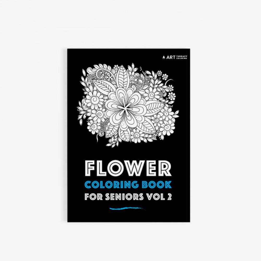 flower coloring book for seniors vol 2 30 - Coloring Books For Seniors
