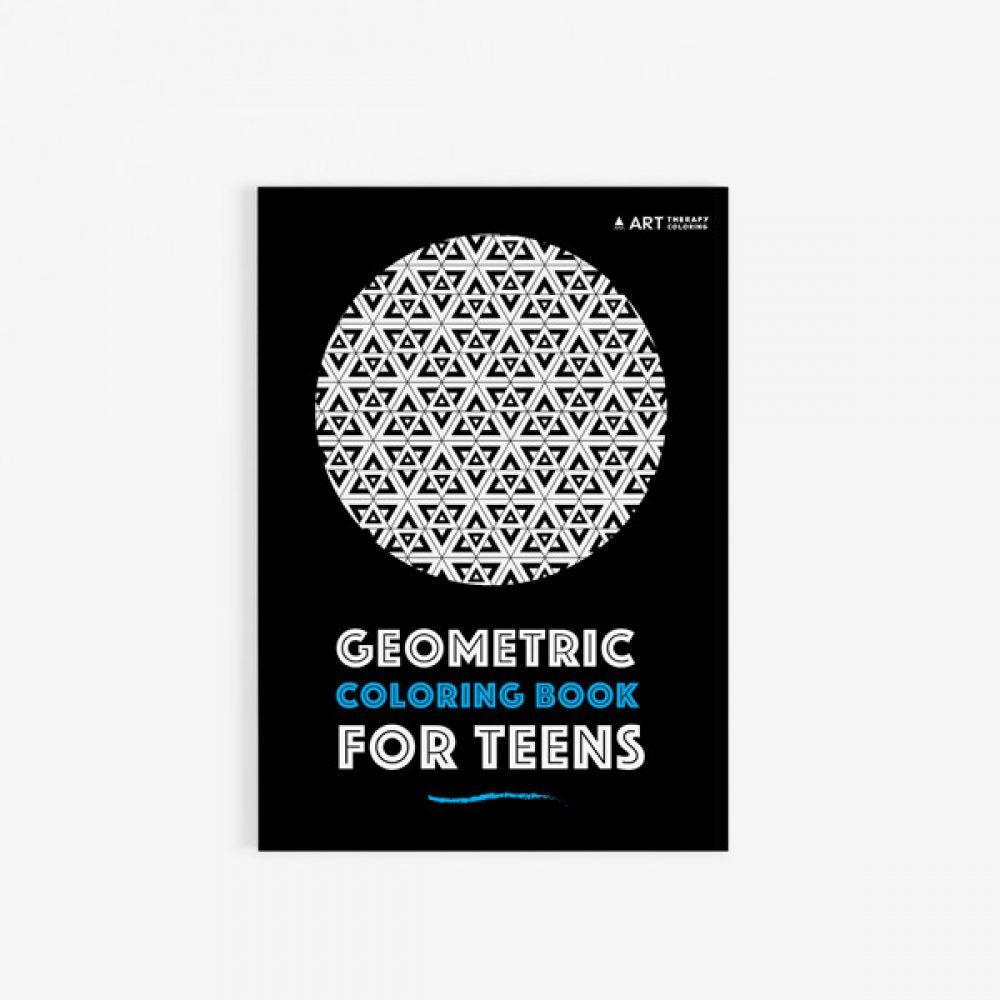 geometric coloring book teens 30