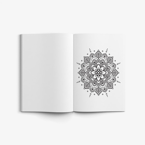 Mandala coloring book for seniors 50