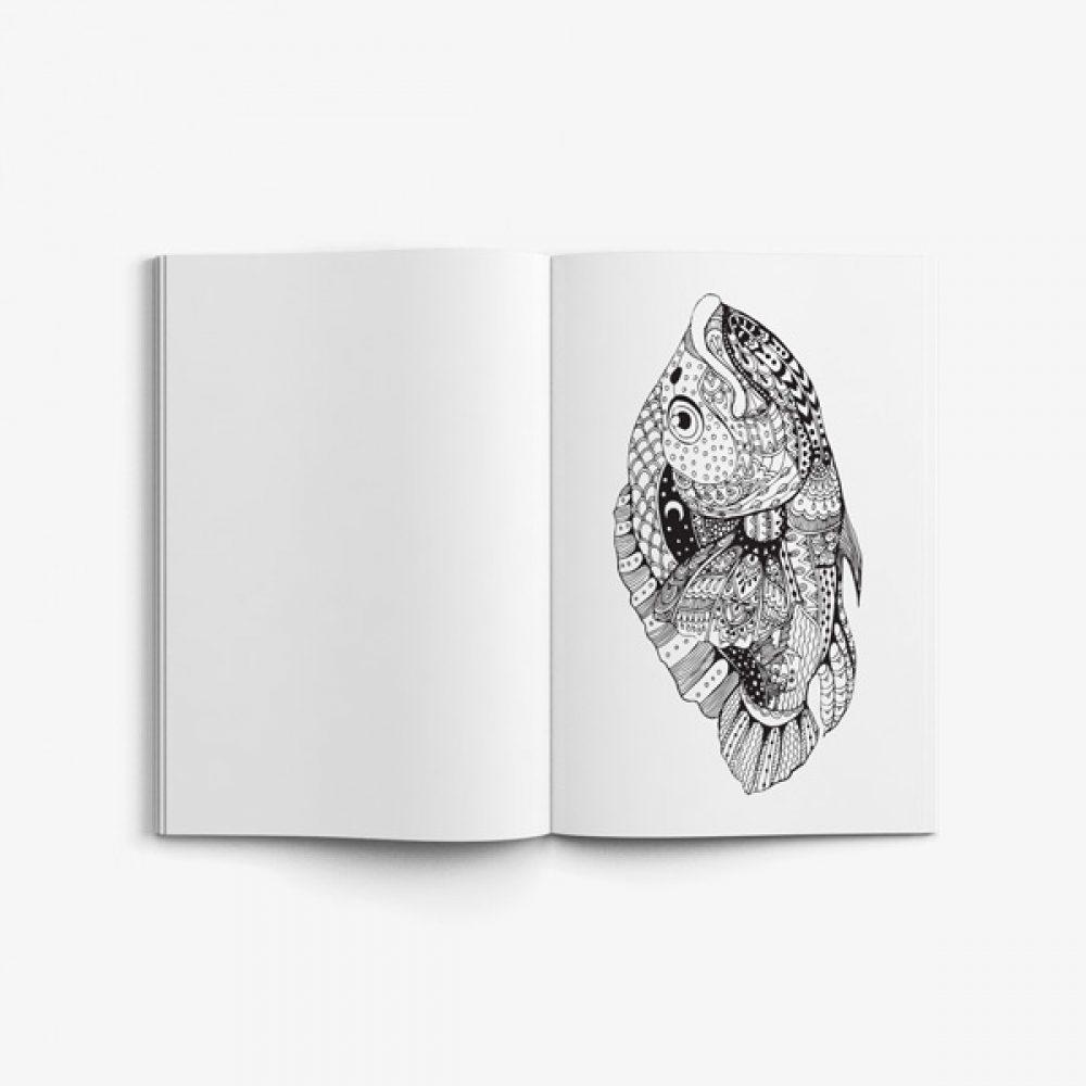 ocean coloring book for seniors men 57 - Ocean Coloring Book