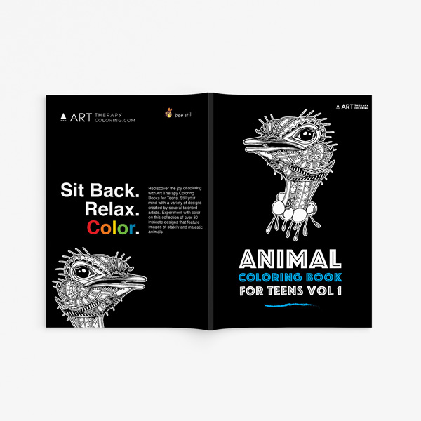 Animal coloring book for teens vol 1