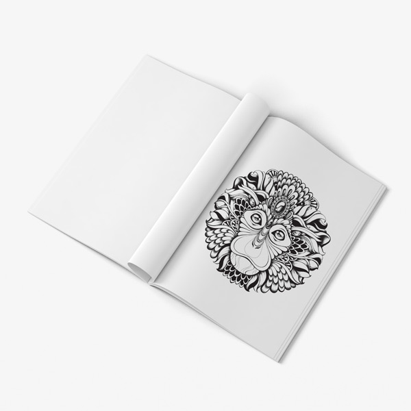 Animal coloring book for teens vol 2